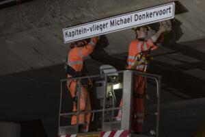 Vernoeming viaduct Michael Donkervoort